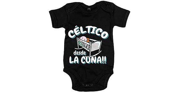 Body bebé Céltico desde la cuna Celta Vigo fútbol - Negro, 12-18 meses: Amazon.es: Bebé