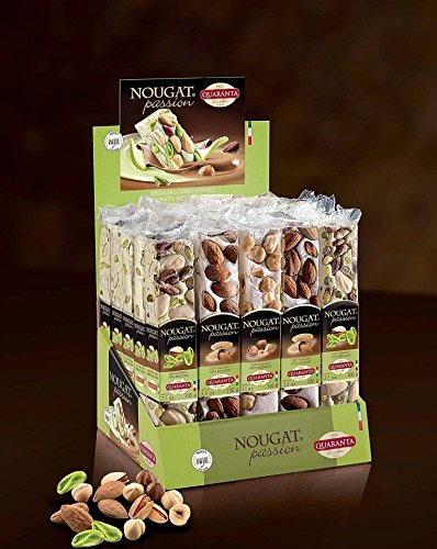 Quaranta (25 pack) Traditional Assorted Nut Torrone 100g Bars Soft Nougat from Italy by Quaranta