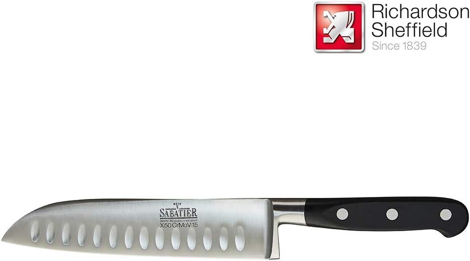 RICHARDSON SHEFFIELD VRU50 Sabatier Soporte de Madera y Juego de 5 Cuchillos