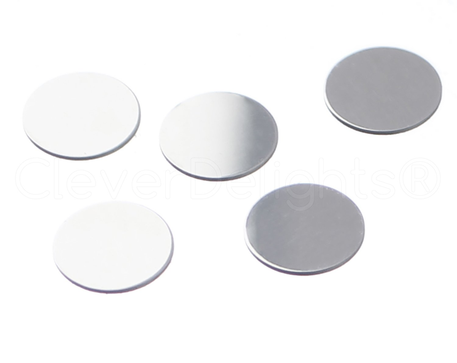 CleverDelights 1//2 Round Aluminum Stamping Blanks 50 Pack .025 Shiny Anodized Finish 22 Gauge
