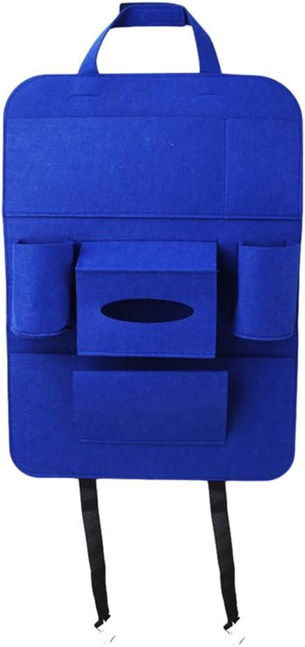 Yinew Large Volume Car Back Seat Organiser Hanging Storage Bag iPad Tablets Hands-Free Pockets Vehicle Organizer Multi Use Food//Bottles//Tissue//Cellphone Holder Organizer Pockets for kids,Blue