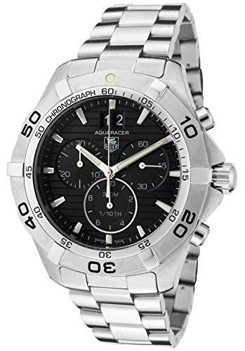 - Tag Heuer Men's CAF101E.BA0821 Aquaracer Black Stainless Steel Watch