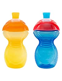 Munchkin Click Lock Bite Proof Sippy Cup, Yellow/Blue, 9 Ounce, 2 Count BOBEBE Online Baby Store From New York to Miami and Los Angeles