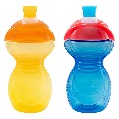 9 Ounce Sippy Cup (Munchkin Click Lock Bite Proof Sippy Cup, Yellow/Blue, 9 Ounce, 2 Count)
