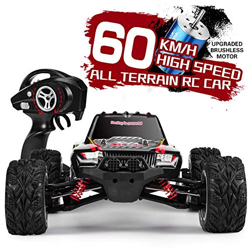 INGQU 1:12 Scale High Speed 60km/h 4WD Off-Road RC Car 2.4Ghz Brushless Remote Control Monster Truck (Best Monster Truck Venues)