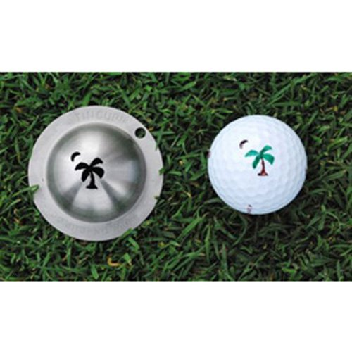 Tin Cup Palmetto Moon Golf Ball Marking Stencil, Steel
