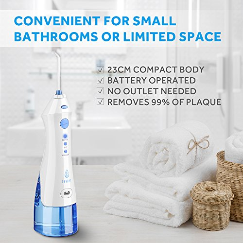 Lavany Water Flosser Cordless Oral Irrigator Professional Rechargeable Portable Dental Water Jet With 4 Jet Tips For Braces and Teeth Whitening,Travel and Home Use by Lavany (Image #6)
