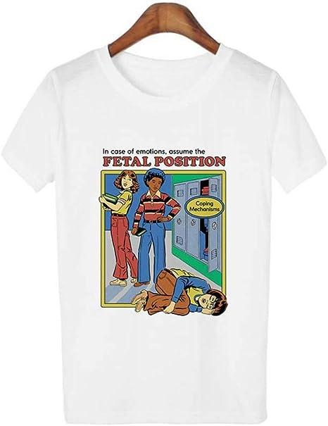 ZHOUBIANREN Camiseta Camiseta Camisa Blanca De Verano Mujer Chaqueta T-Shirt 90S Retro T-Shirt 80S Ropa De Moda Ropa De Mujer: Amazon.es: Deportes y aire libre
