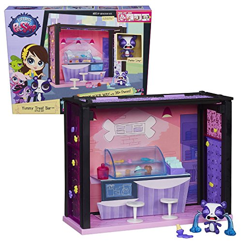 """Hasbro Year 2013 Littlest Pet Shop """"Design Your Way"""" Series Style Set - Yummy Treat Bar with Panda Penny Ling (#3709) and 35+ Accessory Pieces"""