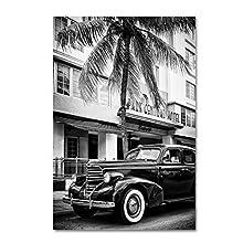 Classic Car Miami Beach by Philippe Hugonnard, 16x24-Inch Canvas Wall Art
