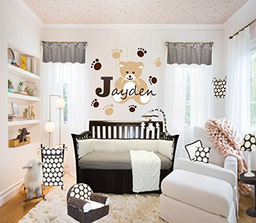 Cotton Tale Designs Jayden 8 Piece Nursery Crib Bedding Set - 100% Cotton Brown and Cream Soft Minky, Fur, Corduroy, Velvet, Houndstooth and Large Polka Dots - Made in the ()