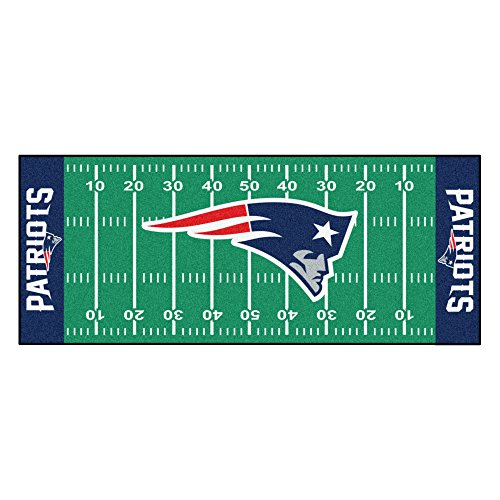 FANMATS NFL New England Patriots Nylon Face Football Field Runner from Fanmats