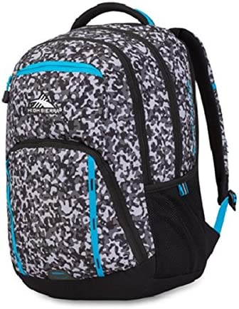 High Sierra Riprap Lifestyle Backpack Black and White Mix