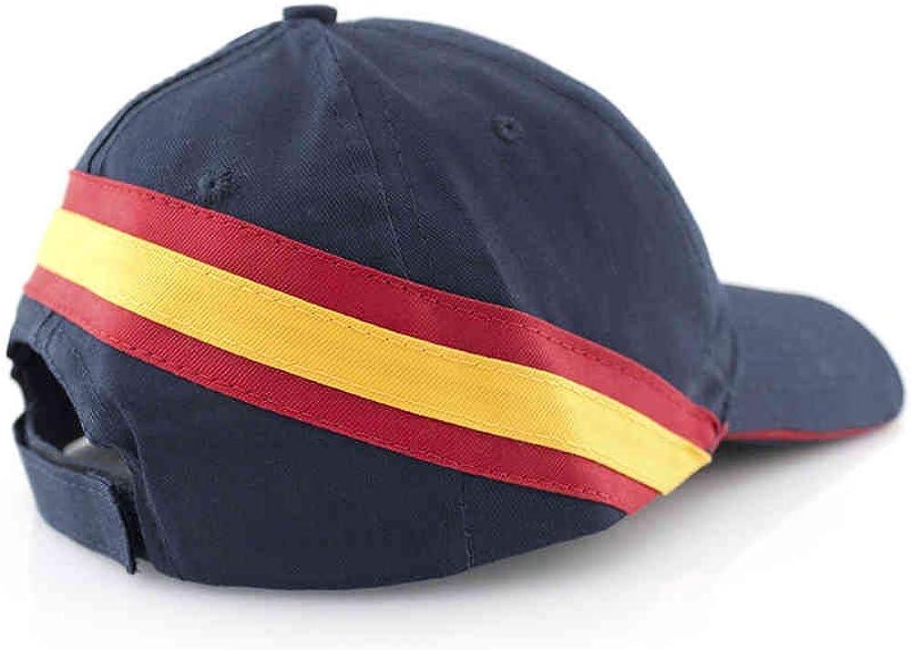 Lote DE 10 Gorras Azul Marino- Bandera ESPAÑA- Clasica-Hombre animar a Las selecciones Españolas de culaquier Deporte.: Amazon.es: Ropa y accesorios
