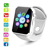 Bluetooth Smart Watch PLYSIN Sweatproof Smartwatch Phone With SIM 2G GSM for Android and IOS Smartphones Support Sleep Monitor, Push Message, Camera Unlocked Watch Christmas Gift for Men Women