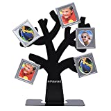 Polaroid Family Tree Frame – Tree with Stand & Five Magnetic Mini-Picture Frames (Black) For Zink 2x3 Photo Paper Pojects (Snap, Zip, Z2300)