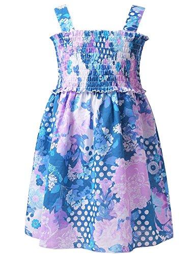 Jxstar Little Girls Colorful Flower Suspender Skirt Sundr...