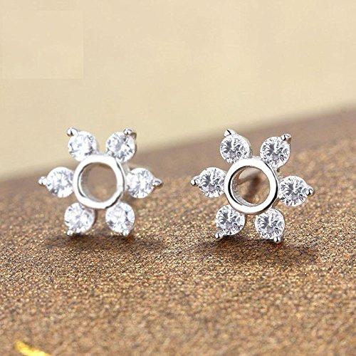 Erica 925 argent simple flocon de neige forme boucles d'oreilles cadeau parfait pour les femmes