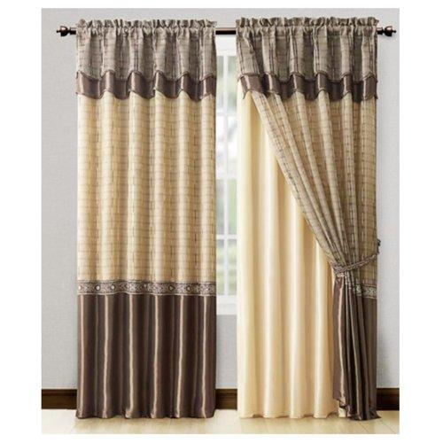 Window Curtain Drapery Valance Valance Chocolate Us989
