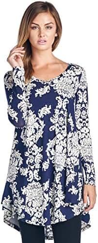 Popana Print Tunic Top - Made In USA
