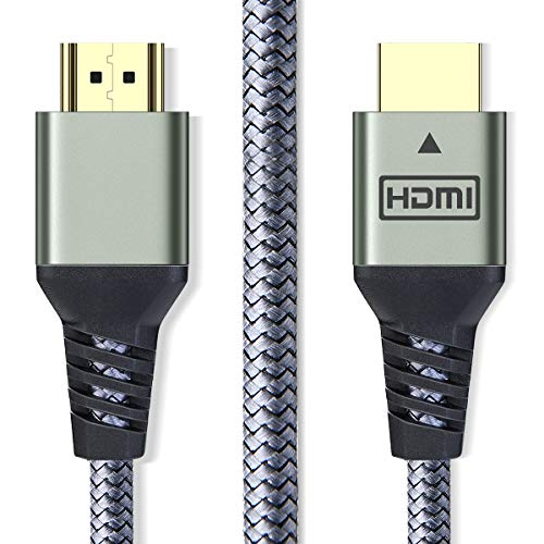 AINOPE HDMI Cable 6.6 ft (4K 60Hz, HDMI 2.0, 18Gbps) - Armor Nylon Braided HDMI Cord - Audio Return(ARC) Compatible UHD TV, Blu-ray, Xbox, PS4, PS3, PC