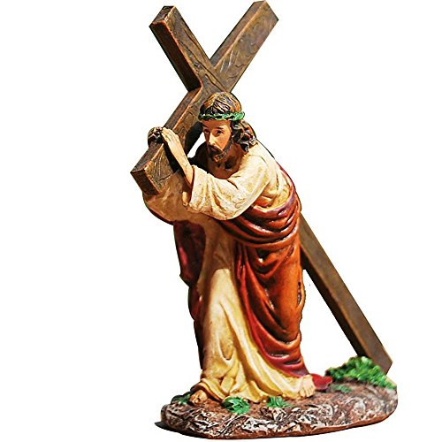 Daisy House Church Home Decoration Resin Jesus Christ Crucifix Cross Statue Figurine Ornaments Catholic Articles Christian Easter ()