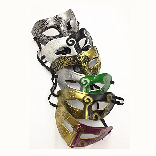 Unisex Retro Masquerade Mask Mardi Gras Costume Party Acccessory (Color -1)