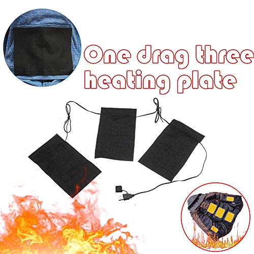 lectric Heating Pads Thermal Clothes Heated Jacket Outdoor Mobile Warming Gear ()