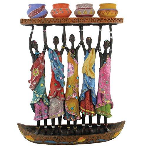 Rockin Gear African Figurine Statue Sculpture Canoe Candelabra 11