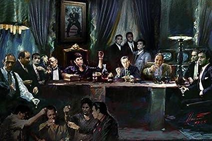"Gangster Poker Godfather Goodfellas Scarface Sopranos Canvas 20/""x30/"""