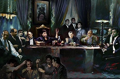 Buyartforless Gangster Godfather Scarface Goodfellas product image