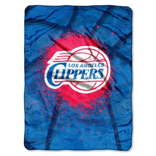 NBA Los Angeles Clippers Shadow Play Plush Raschel Throw, 60