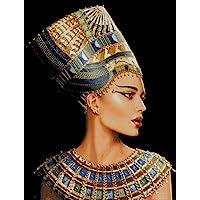 Juego de punto de cruz de Cleopatra, algodón