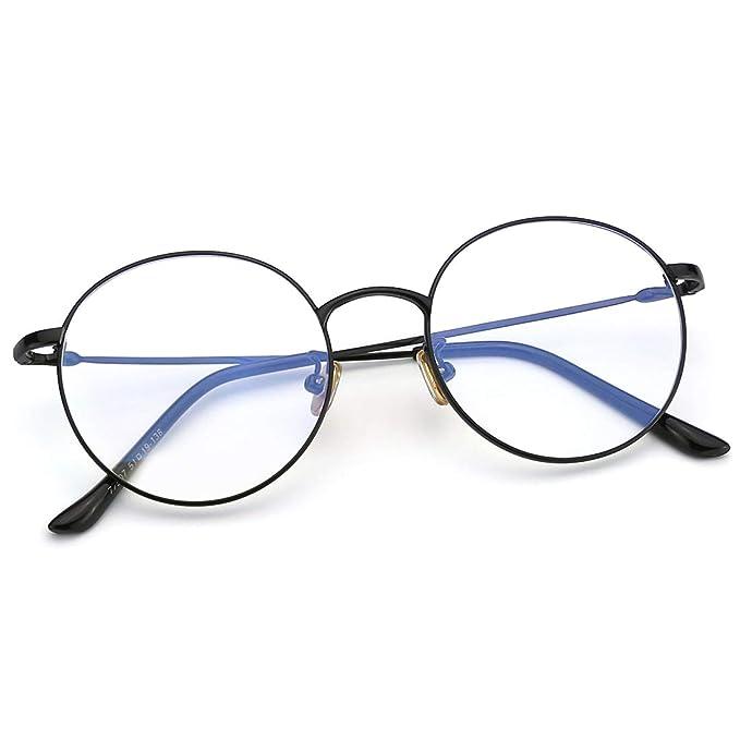 41902979020 Amazon.com  Mimoeye Round Nerdy Eyeglasses Thin Metal Non ...