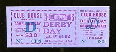 1953 Kentucky Derby Full Ticket 5/2/53 Dark Star Ex 23286
