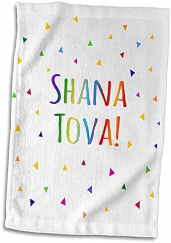 3dRose InspirationzStore Judaica - Shana tova - Rosh Hashanah greeting for a Happy Jewish New Year - 15x22 Hand Towel (twl_202092_1)