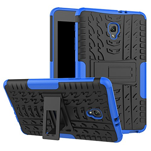 Tab A 8.0 T380 Case, Ankoe Heavy Duty Hybrid Slim Dual Layer Rugged Rubber Armor Defender Shockproof Protective Case with Kickstand for Samsung Galaxy Tab A 8.0 2017 SM-T380/T385 (Blue)