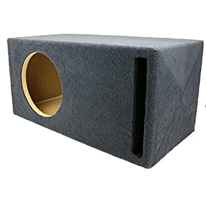 "1.25 ft^3 Ported MDF Sub Woofer Enclosure for Single JL Audio 10"" W3v3 (10W3v3) Car Subwoofer - 3/4"" Premium MDF Construction - Made in U.S.A."