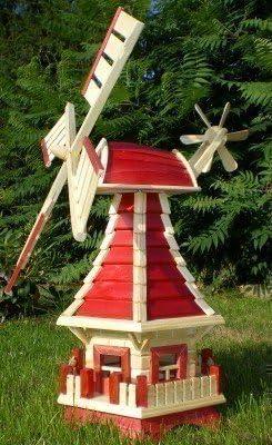 Molino de Viento Decoración para Jardín Color Rojo/ Natural - Tipo 1: Amazon.es: Productos para mascotas