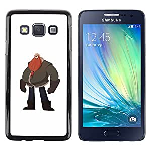 Paccase / SLIM PC / Aliminium Casa Carcasa Funda Case Cover - Big Man Belly Red Beard Drawing Art - Samsung Galaxy A3 SM-A300