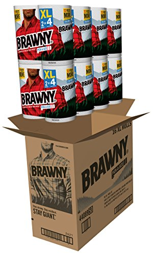 Large Product Image of Brawny Pick-a-Size Paper Towels, White, XL Rolls, pack of 16 count
