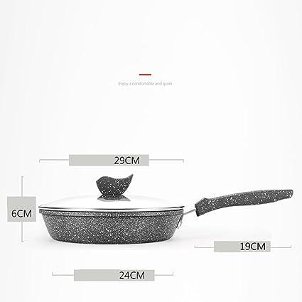 LLW-Frying Pans Sartén Sartenes Maifan Stone Pan Sartén Antiadherente Steak Pancake Pan Cocina De