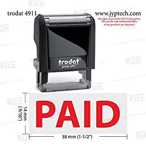 Paid - JYP 4911 Self Inking Rubber Stamp