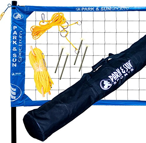 Park & Sun Sports Spectrum 2000: Portable Professional Outdoor Volleyball Net System, Blue