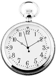 Analog Reloj de bolsillo con mecanismo de cuarzo 485722000018 Plata coloreado Chasis tamaño 52 mm x
