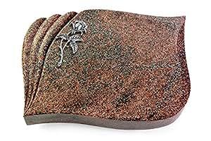 Eterna Paradiso aluminio Grab placa, Grab piedra, Grab Cojín, Urna Lápida, Camilla Lápida Modelo Eterna 40x 30x 7cm Paradiso de granito pulido, incluye grabado