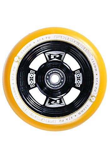 Phoenix Rotor Pro Scooter Wheel 110mm with ABEC 9 Bearings (Gold/Black)
