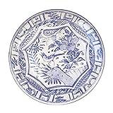 Gien Oiseau Blue Dessert Plate, Set of 4