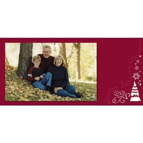 Mara-Mi 9.5 x 4.5 Inches Laser Cut PhotoCard Red Trees, 100 cards/envelopes (36567) by Mara-Mi