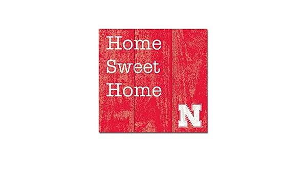 NCAA Legacy Nebraska Cornhuskers Wood Plank Square 10x10 One Size Wood
